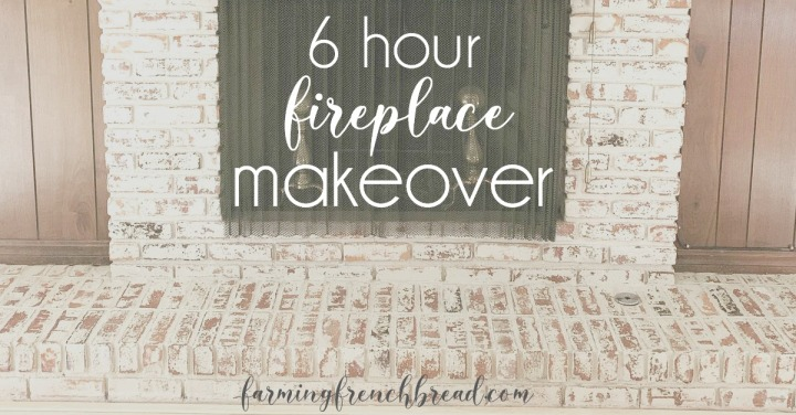 My 6-Hour Fireplace Makeover